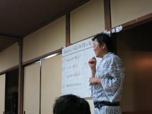 進行役のあさみさん。神戸からはるばる。