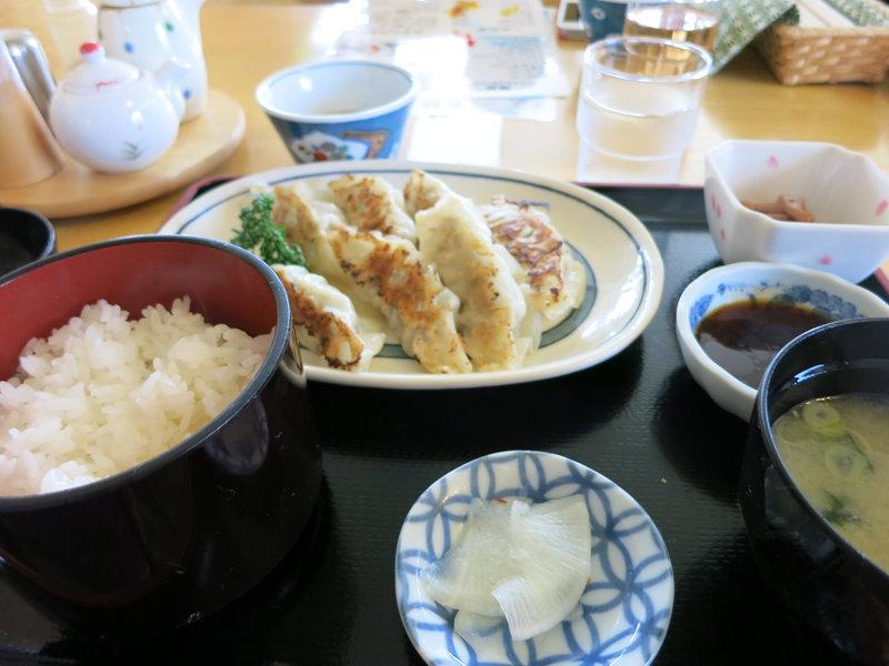 温泉閣の餃子定食