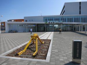 稚内駅と最北端のレール