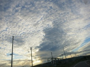 雲がすごかったので。