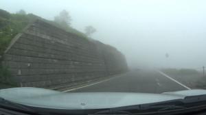 白根山。この霧。前みえねーw