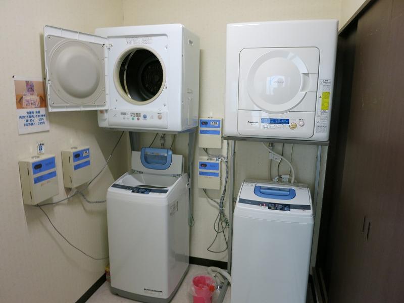 洗濯機と乾燥機がありまっせ