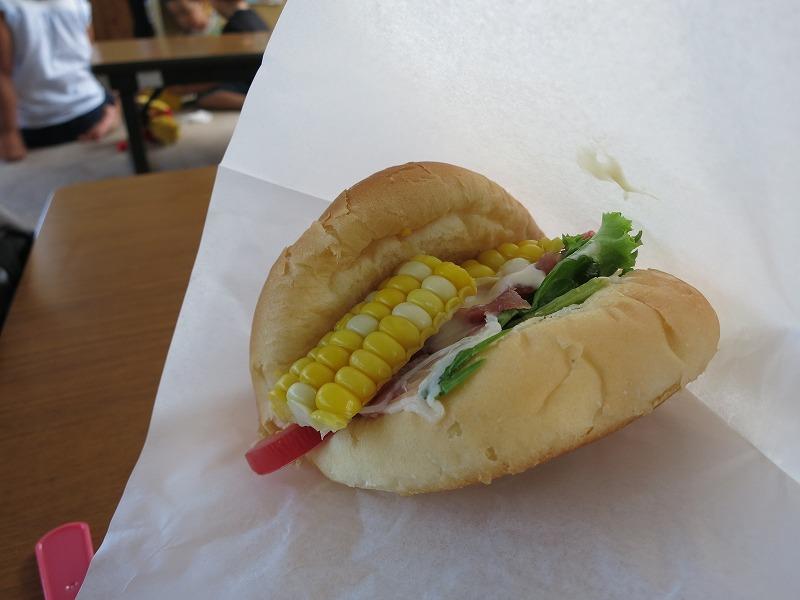 生ハムと野菜のサンド