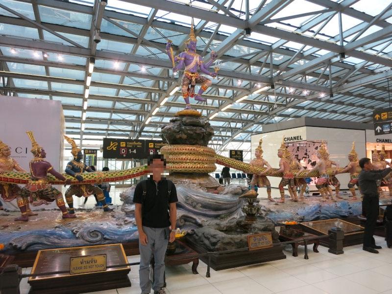最後に空港で。